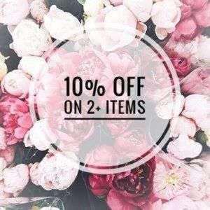 💗2 ITEMS 10% off 💗